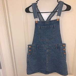 FOREVER 21 Denim Overalls Dress